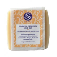 Soapwalla Crushed Saffron + Kaffir Lime Soap